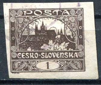 (1918) č. 1 - O - ČSR I. - Hradčany 1 h - hnědá