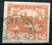(1918) č. 14 - O - ČSR I. - Hradčany 40 h - oranžová