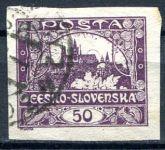 (1918) č. 15 - O - ČSR I. - Hradčany 50 h - fialová