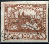 (1918) č. 20 - O - ČSR I. - Hradčany 100 h - hnědá