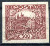 (1918) č. 25 - O - ČSR I. - Hradčany 500 h
