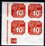 (1939) č. NV 5 **, 4-bl - B. ü. M. - Nov. známky - č. 3-40 (trojúhelník) | www.tgw.cz
