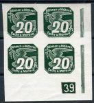 (1939) č. NV 7 **, 4-bl - B. ü. M. -  Nov. známky - č. (1) - 39