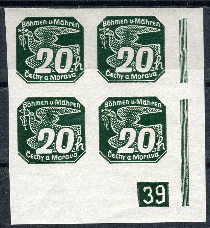 (1939) č. NV 7 **, 4-bl - B. ü. M. - Novinové známky - č. (1) - 39 | www.tgw.cz