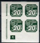 (1939) č. NV 7 **, 4-bl - B. ü. M. - Novinové známky - č. 1 | www.tgw.cz