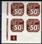 (1939) č. NV 8 **, 4-bl - B. ü. M. - Novinové známky - č. 1 | www.tgw.cz