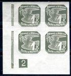 (1939) č. NV 9 **, 4-bl - B. ü. M. - Novinové známky - č. 2 | www.tgw.cz