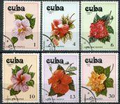 (1978) MiNr. 2356 - 2361 - O - Kuba - Květy ibišku