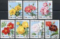 (1979) MiNr. 2419 - 2425 - O - Kuba - Růže