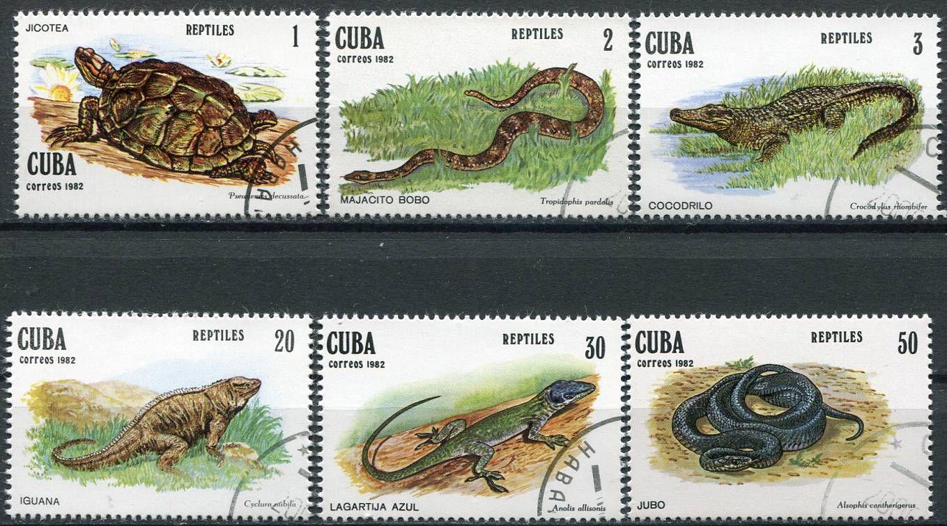 (1982) MiNr. 2667 - 2672 - O - Kuba - Plazi   www.tgw.cz