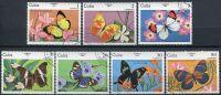 (1984) MiNr. 2821 - 2827 - O - Kuba - Motýli