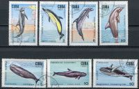 (1984) MiNr. 2828 - 2834 - O - Kuba - Velryby