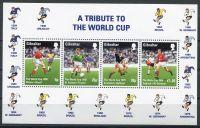 (1998) MiNr. 814 - 815 ** BLOCK 31 - Gibraltar - Fotbal