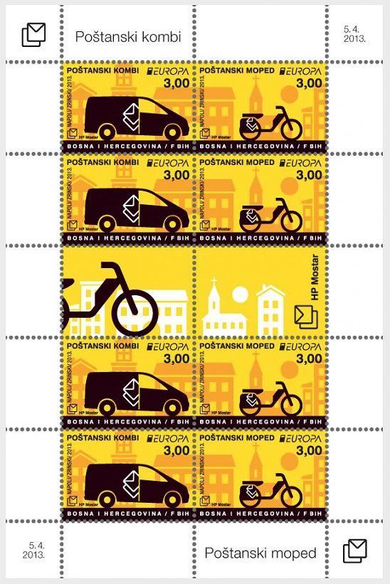 (2013) MiNr. 361 - 362 **, PL - Bosna (Mostar) - EUROPA - poštovní vozidla | www.tgw.cz