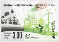 (2016) MiNr. 428 ** - Bosna (Mostar) - EUROPA: Myslíme zeleně