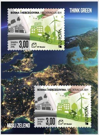 (2016) MiNr. 428 ** - Bosna (Mostar) - EUROPA: Myslíme zeleně   www.tgw.cz