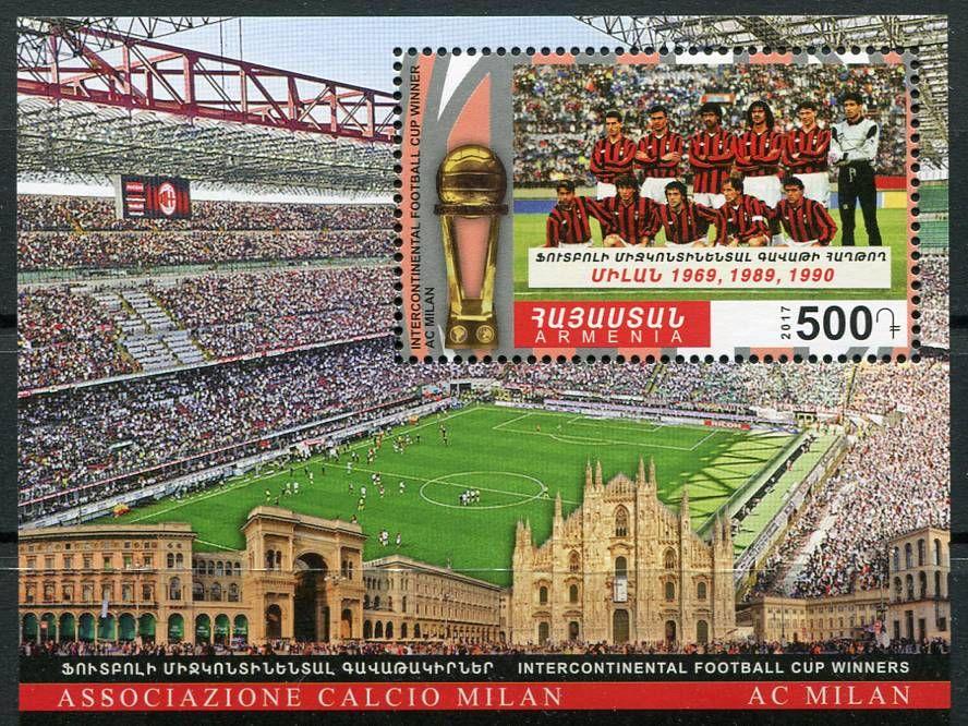 (2017) MiNr. 1052 ** BLOCK 94 - Arménie - Světový pohár - AC Milán   www.tgw.cz