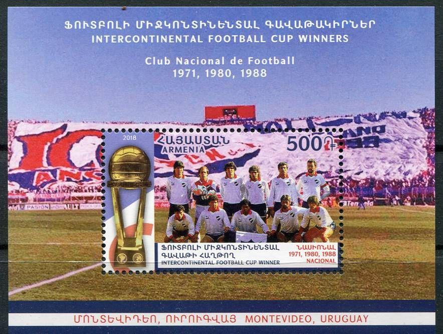 (2018) MiNr. 1102 ** BLOCK 94 - Arménie - Světový pohár - Club Nacional de Football, Montevideo | www.tgw.cz