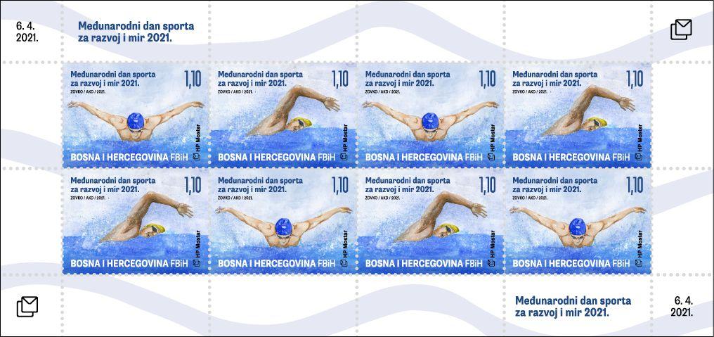 (2021) MiNr. **, PL - Bosna (Mostar) - Mezinárodní den sportu   www.tgw.cz