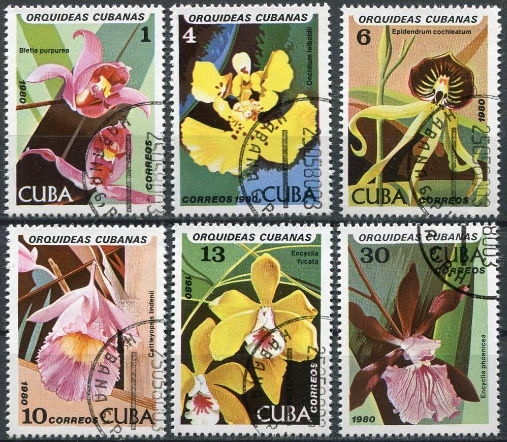 (1980) MiNr. 2477 - 2482 - O - Kuba - Orchideje   www.tgw.cz