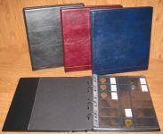 Album na mince TGW 164 - desky + 16 ks listů | černé, červené, modré