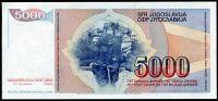 Jugoslávie - (P 93) 5000 DINARA 1985 - UNC   www.tgw.cz