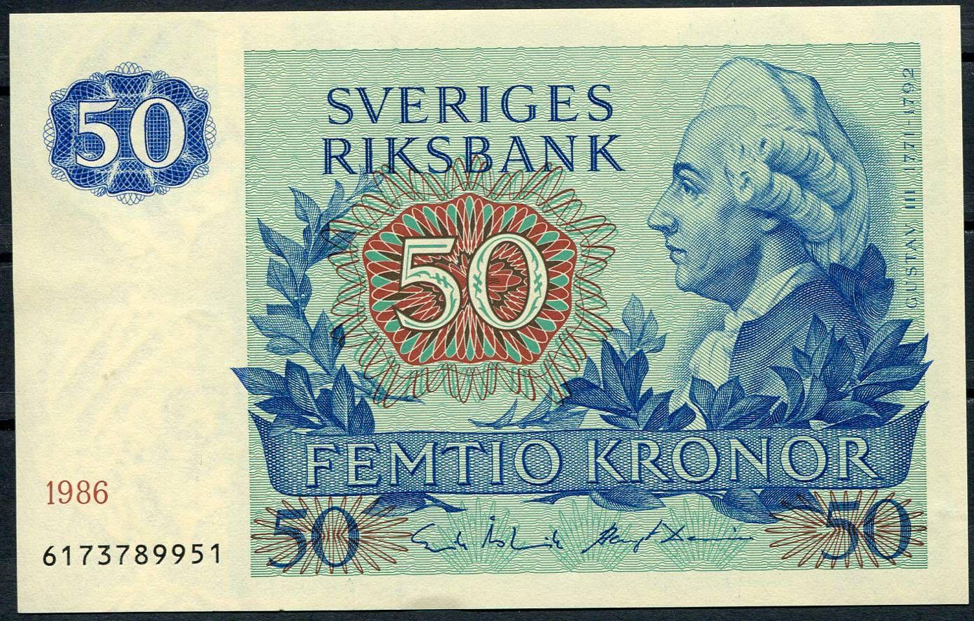 Švédsko - (P 53d.4) 50 Kronor (1989) - UNC   www.tgw.cz