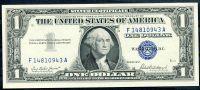 USA - P 419a - 1 dollar 1957,  E série (F-A)  - UNC (modrá pečeť)