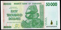 Zimbabwe - (P 74) 50 000 dollars (2008) - UNC