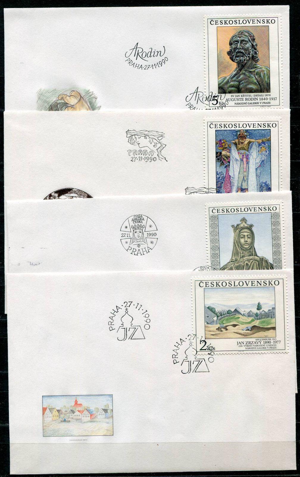(1990) FDC 2961 - 2964 - Československo - Umění | www.tgw.cz