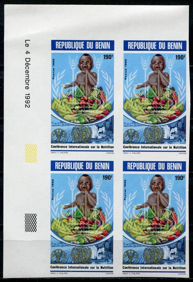 (1992) MiNr. 535 B **, 4- bl - Benin - Světová potravinová konference, Řím   www.tgw.cz