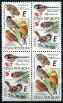 "(2020) č. 1083 - 1084 **, 4-bl (1) - Česká republika - Zpěvní ptáci (III.) ""E""   www.tgw.cz"