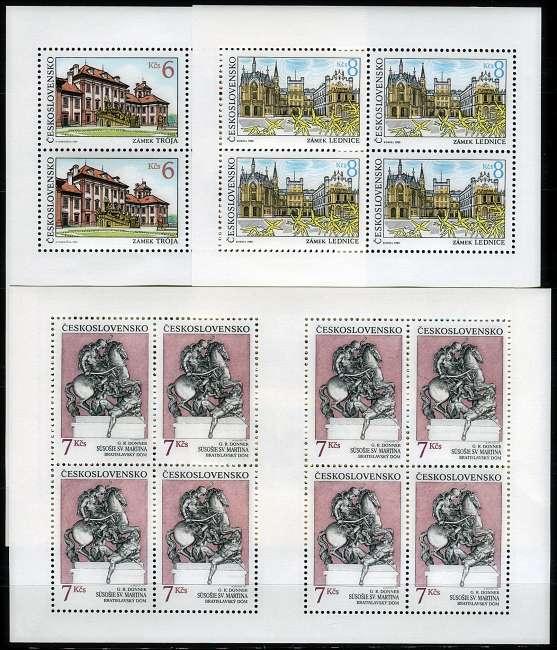 (1992) PL 3018 - 3020 ** - ČSSR - Krásy naší vlasti Českosloveská pošta
