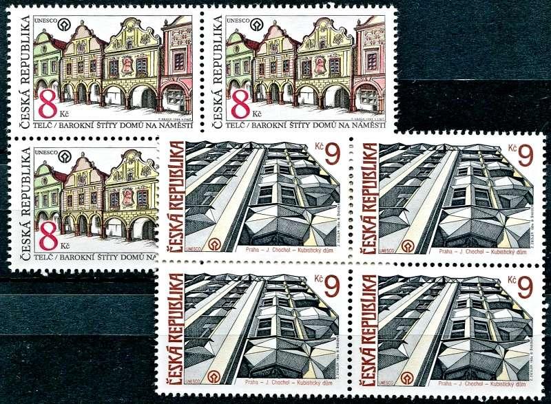 Tel a Praha na poštovních známkách