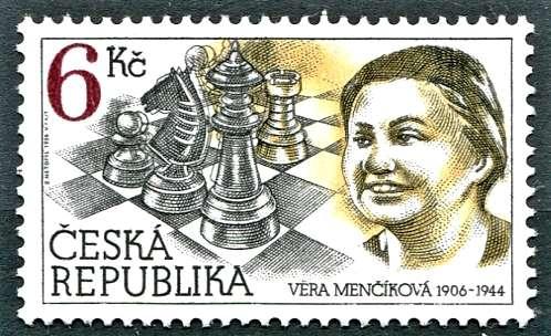 Česká pošta (1996) č. 102 ** - ČR - Z české šachové historie - V. Menšíková
