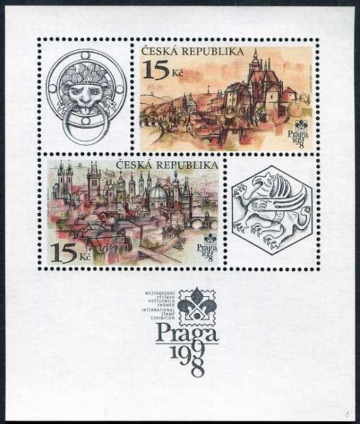 Česká pošta (1997) A 158 ** - Praga 1998