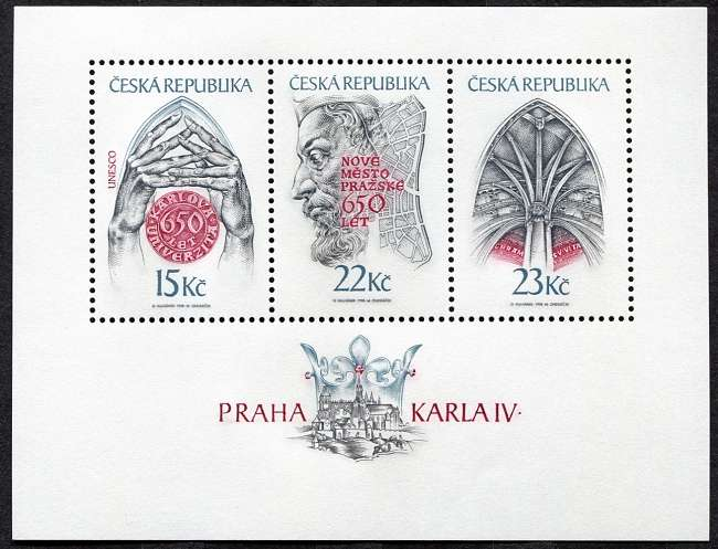 1998) A 174 - 176 ** - Česká republika - Praha Karla IV.
