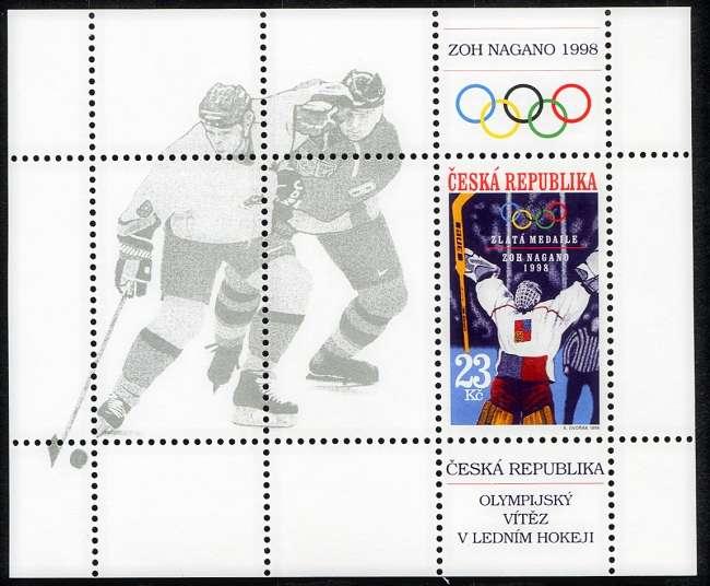 (1998) A 177 ** - Česká republika - Nagano 1998 - zlatá olympijská medaile v hokeji