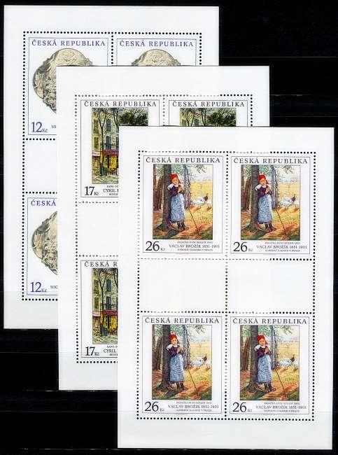 (2001) PL 309 - 311 ** - ČR - Umění na známkách