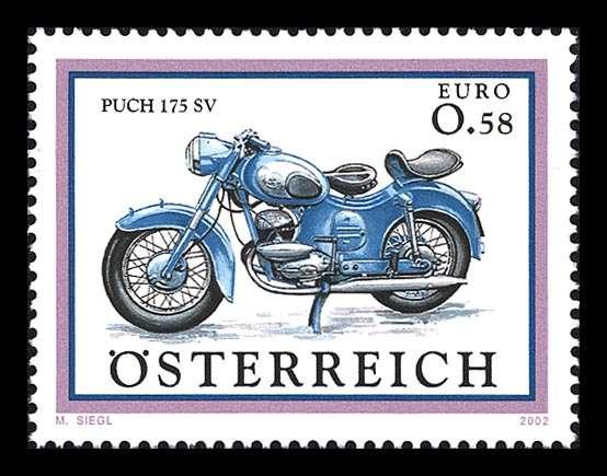 (2002) č. 2398 ** - Rakousko - Motocykl - Puch 175 SV Österreich post