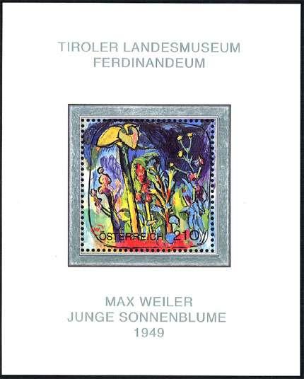 (2004) č. 2501 ** - Rakousko - BLOCK 26 - Max Weiler - Junge Sonnenblume