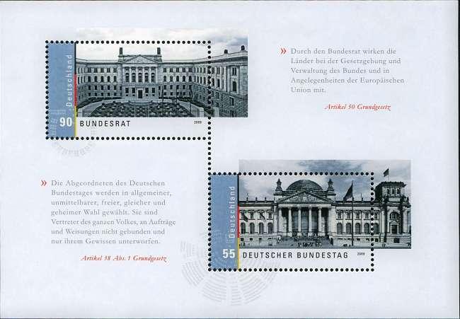 (2009) č. 2757 - 2758 ** - Německo - BLOCK 76 - Německý Bundestag a Bundesrat