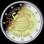 (2012) 2€ - Itálie - 10. výročí Eura