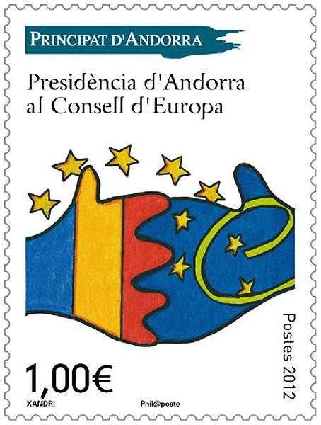 (2012) MiNr. 752 ** - Andora (Fr.) - Předsednictví Rady Evropy