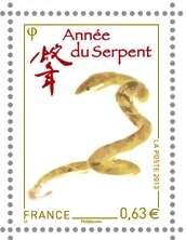 (2013) MiNr. 5480 ** - Francie - Čínský Nový rok - rok hada.