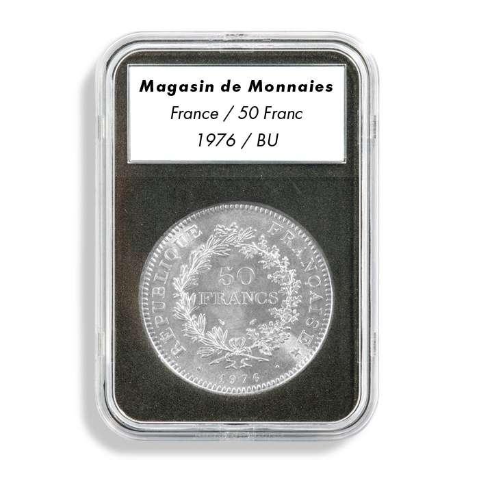 Leuchtturm EVERSLAB mincovní kapsle s popiskem - prům. mince 39 mm (5 ks)