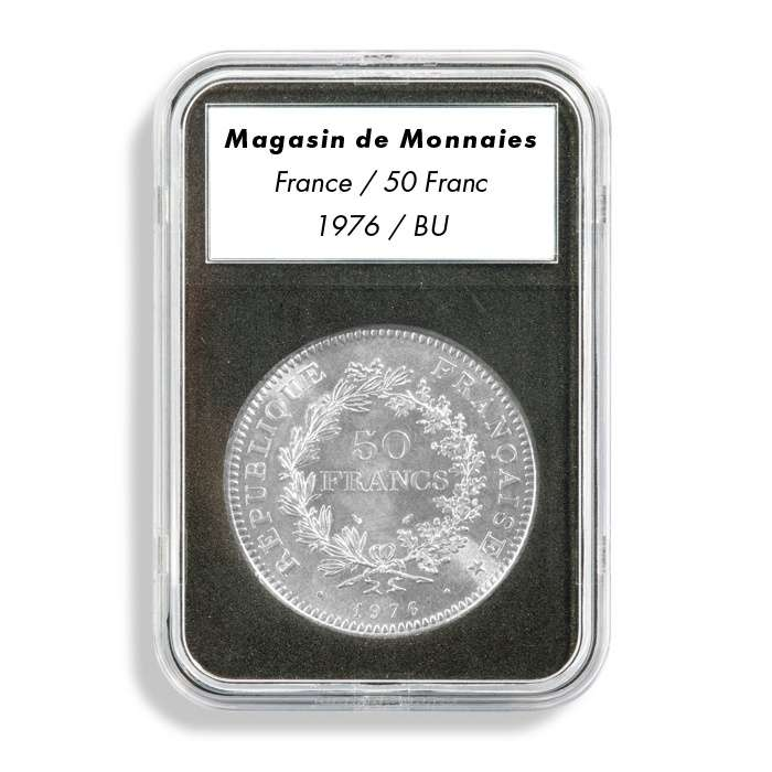Leuchtturm EVERSLAB mincovní kapsle s popiskem - prům. mince 40 mm (5 ks)