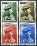 (1946) MiNr. 310 - 313 ** - Norsko - Korunní princ Olaf v uniformě
