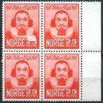(1947) MiNr. 334 ** - Norsko - 4-bl - poštovní známky
