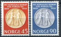 (1959) MiNr. 434 - 435 ** - Norwegen - briefmarken